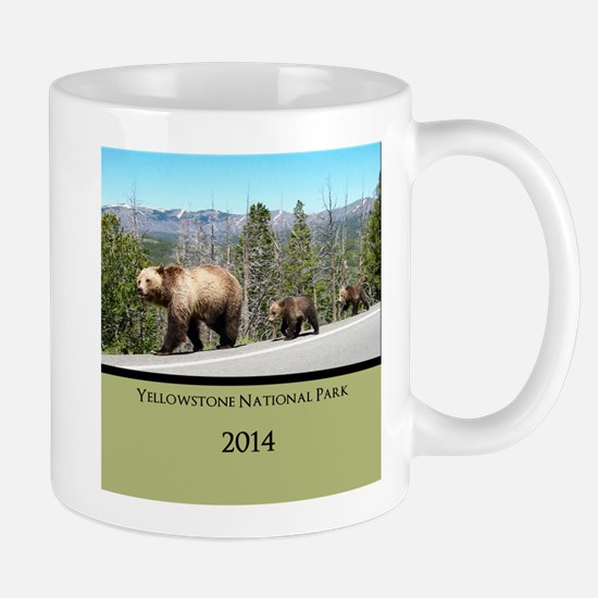 Customized Grizzly Bears in Yellowstone Mug