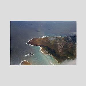 hawaiian coastline Rectangle Magnet
