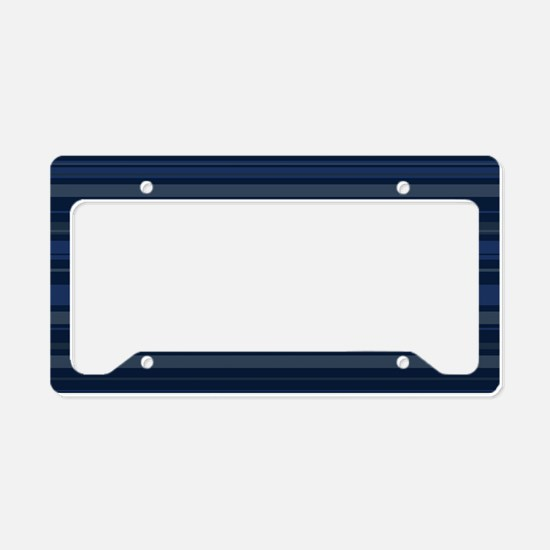Blue Stripes License Plate Holder