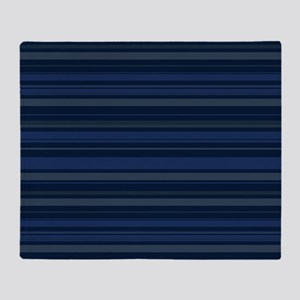 Blue Stripes Throw Blanket