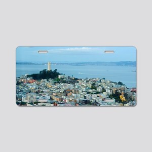 Telegraph Hill dusk Aluminum License Plate