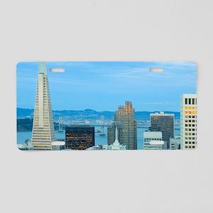 san francisco city skyline Aluminum License Plate