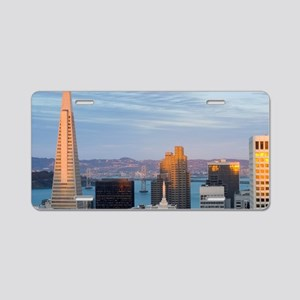 sunset buildings san franci Aluminum License Plate