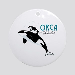 Orca Whales Ornament (Round)