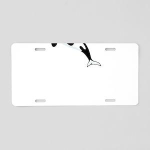 Orca Whales Aluminum License Plate