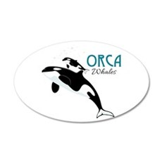 Orca Whales Wall Decal