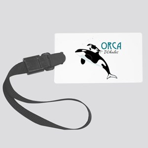 Orca Whales Luggage Tag