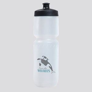 Save The Whales Sports Bottle