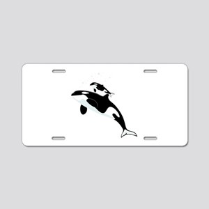 Killer Orca Whales Aluminum License Plate
