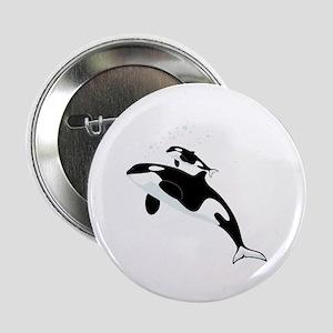 """Killer Orca Whales 2.25"""" Button"""