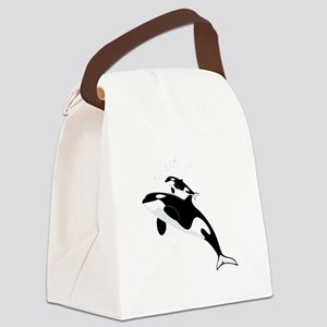 Killer Orca Whales Canvas Lunch Bag
