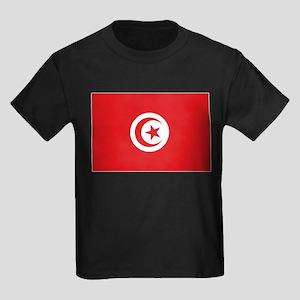 flag Tunisia Kids Dark T-Shirt