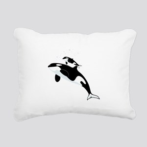 Killer Orca Whales Rectangular Canvas Pillow
