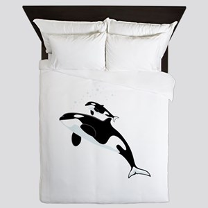 Killer Orca Whales Queen Duvet