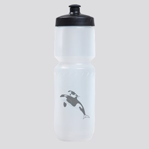 Killer Orca Whales Sports Bottle
