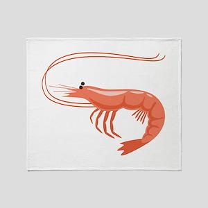 Prawn Shrimp Throw Blanket