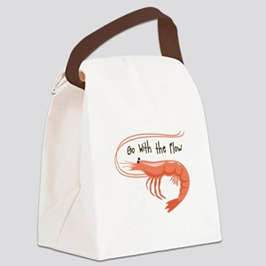 Go WIth the Flow Canvas Lunch Bag