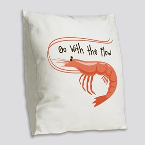 Go WIth the Flow Burlap Throw Pillow
