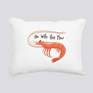 Go WIth the Flow Rectangular Canvas Pillow