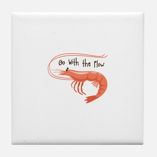 Go WIth the Flow Tile Coaster