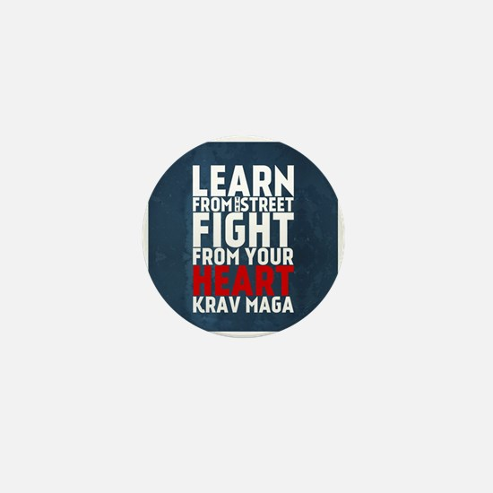 Learn from the street Krav Maga RED Mini Button