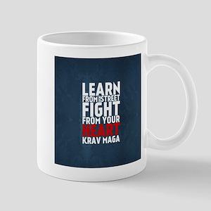 Learn from the street Krav Maga RED Mugs