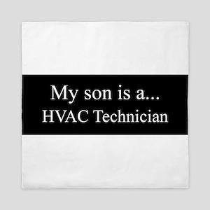 Son - HVAC Technician Queen Duvet