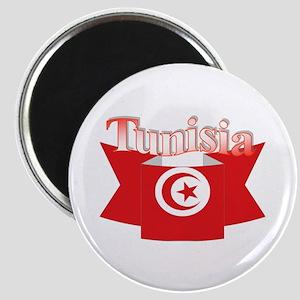 Flag ribbon Tunisia Magnet