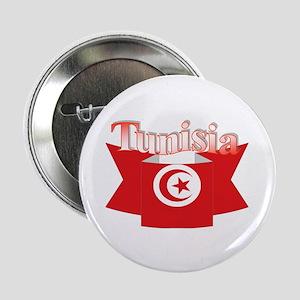 Flag ribbon Tunisia Button
