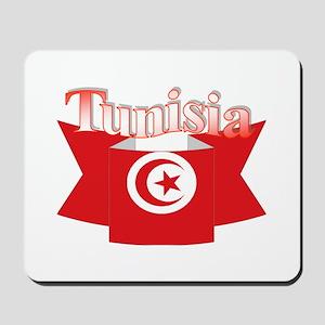 Flag ribbon Tunisia Mousepad