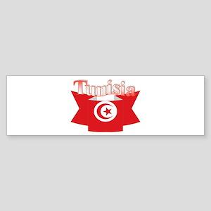 Flag ribbon Tunisia Bumper Sticker