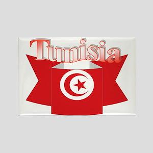 Flag ribbon Tunisia Rectangle Magnet