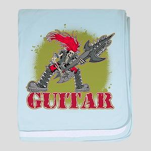 Skeleton Rock Guitarist baby blanket