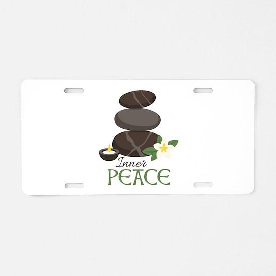 Inner Peace Aluminum License Plate