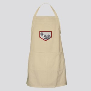 Weightlifter Lifting Barbell Shield Retro Apron