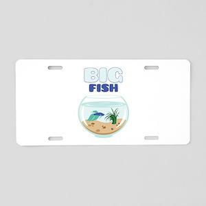 Big Fish Aluminum License Plate