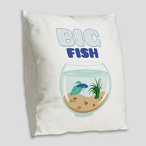 Big Fish Burlap Throw Pillow