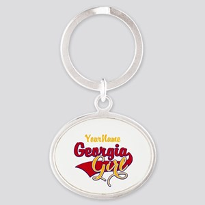 Georgia Girl Oval Keychain