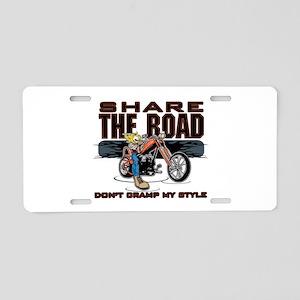 Share the Road Biker Aluminum License Plate
