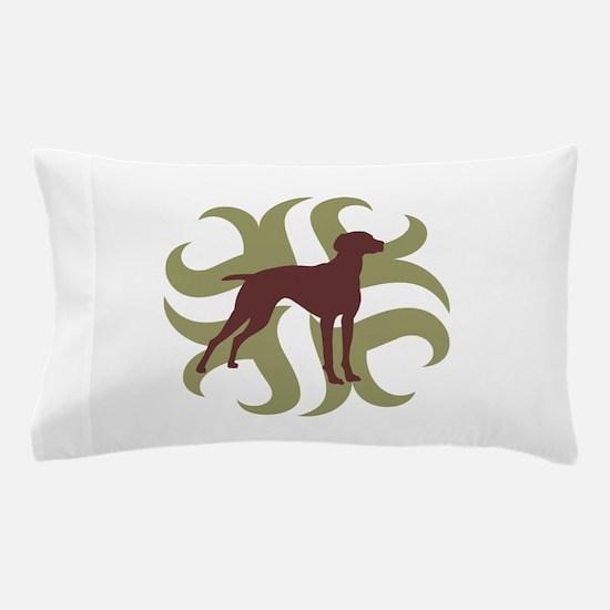 Vizsla Dog Tribal Pillow Case