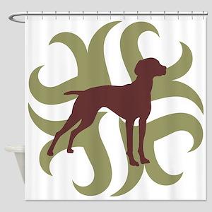 Vizsla Dog Tribal Shower Curtain