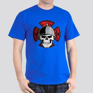 Tribal Round Cross Skull Dark T-Shirt