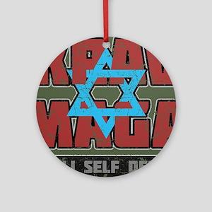 Israeli Krav Maga Magen David Ornament (Round)