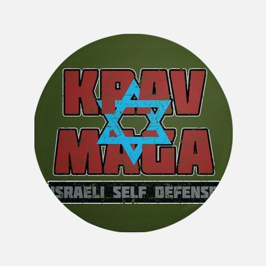 """Israeli Krav Maga Magen David 3.5"""" Button (10 pack"""