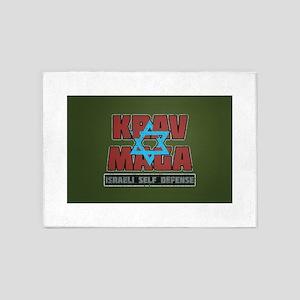 Israeli Krav Maga Magen David 5'x7'Area Rug