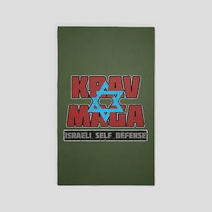 Israeli Krav Maga Magen David 3'x5' Area Rug