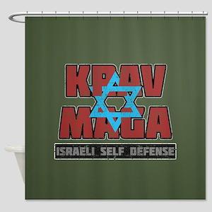 Israeli Krav Maga Magen David Shower Curtain