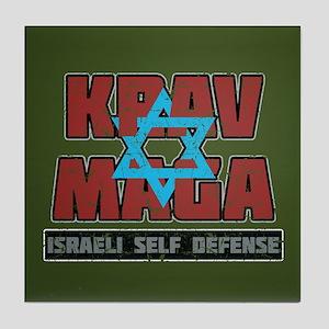 Israeli Krav Maga Magen David Tile Coaster