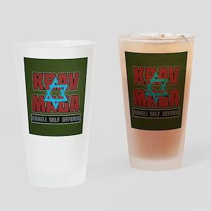 Israeli Krav Maga Magen David Drinking Glass