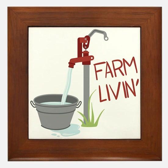 FARM LIVIN Framed Tile